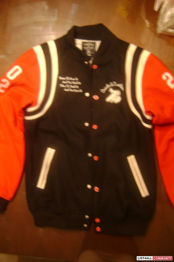 CROOKS AND CASTLES LETTERMAN SIZE SMALL FOR CHEAP