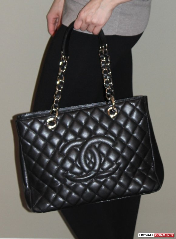Chanel Quilted Leather Tote Bag