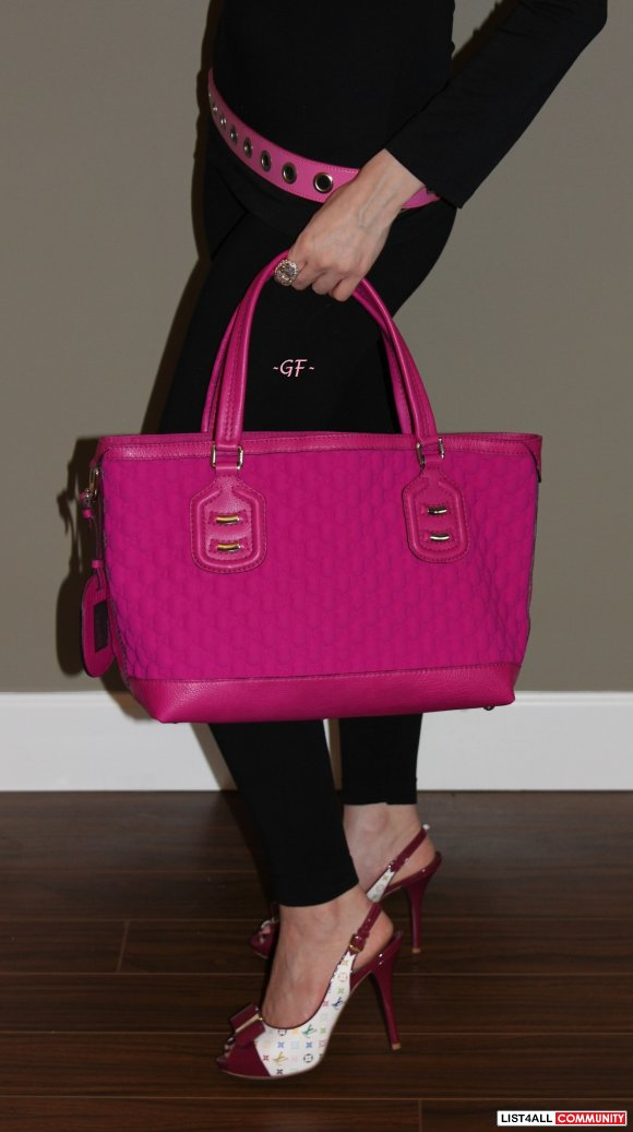 Pink Monogram Quilted Bag
