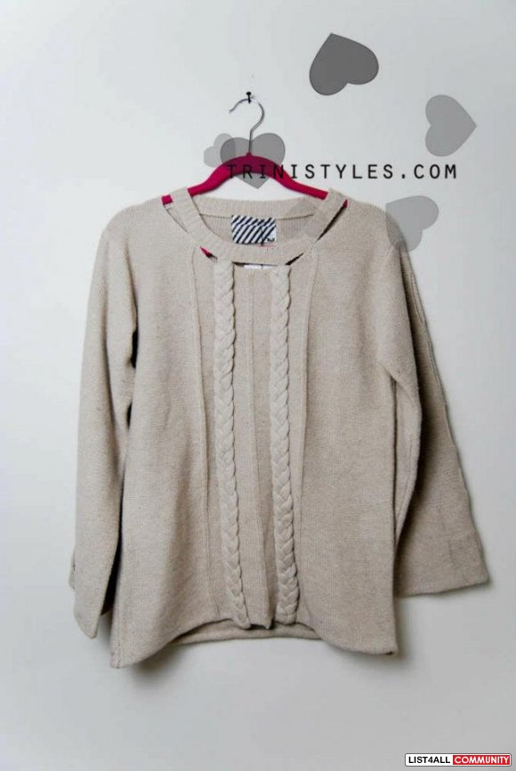 SLY ribbed peekaboo sweater