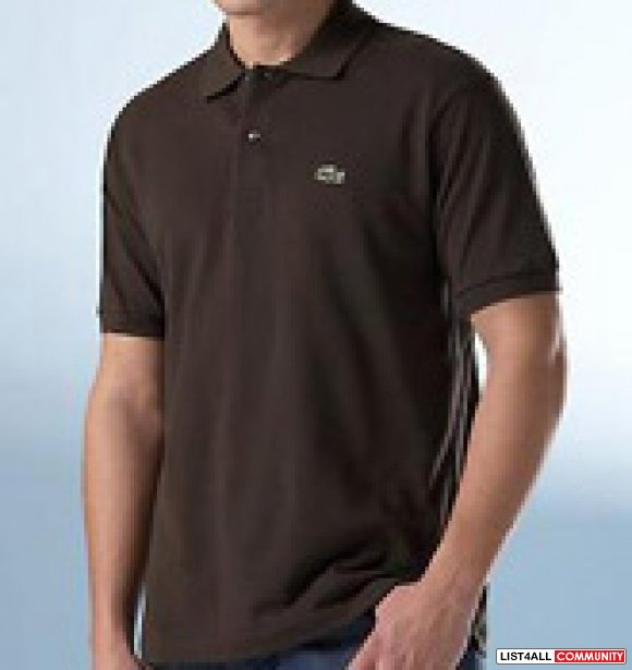 Cheap lacoste polo shirts black color j vtoop list4all for Discount lacoste mens polo shirts