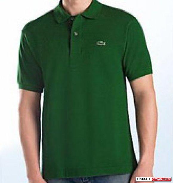 Mens lacoste polos dark green color h vtoop list4all for Dark green mens polo shirt