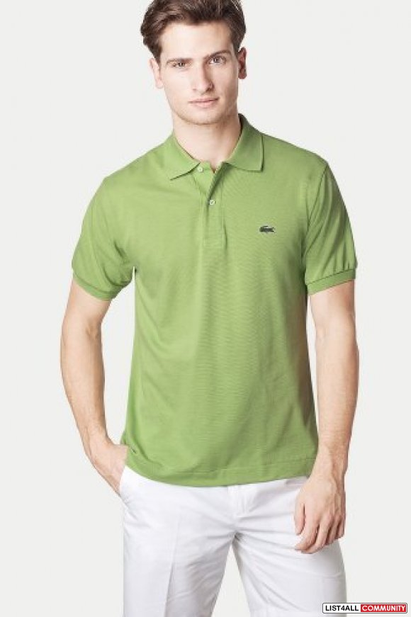 Light green mens shirt custom shirt for Discount lacoste mens polo shirts