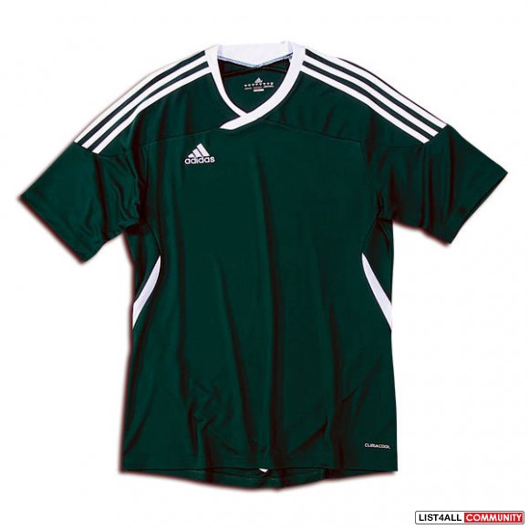 ... Men's ADIDAS Tiro 11 Short Sleeve Soccer Jersey Shirt Green Large ...