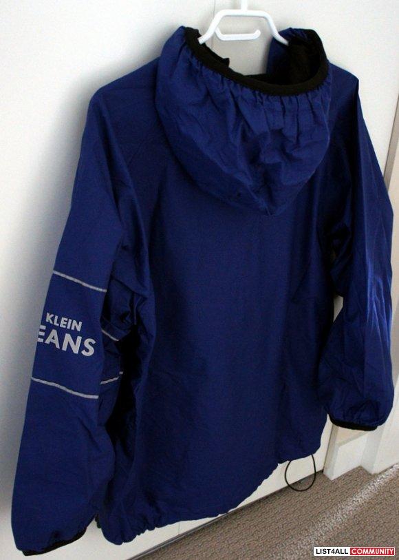 Men S Calvin Klein Blue Reflective 1 2 Zip Pullover Hoodie