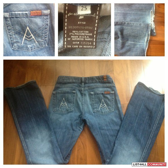 "7 for all mankind - ""A"" pocket flare"