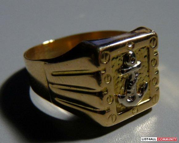 gold ring 18k size 10 alexander list4all. Black Bedroom Furniture Sets. Home Design Ideas