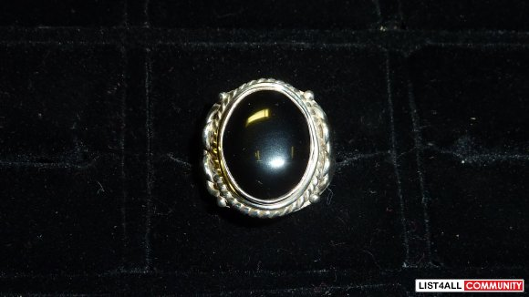 Silver ring, size 10