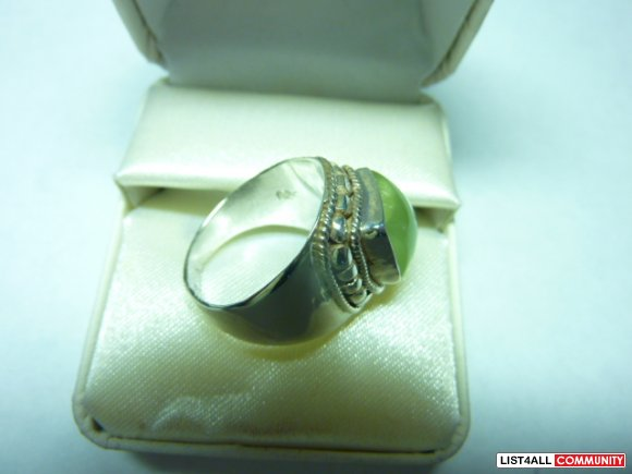 Silver ring, size 8