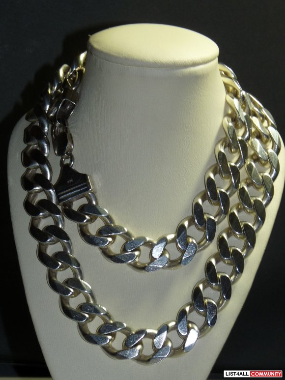 Sterling silver .925 chain 168gr 22''
