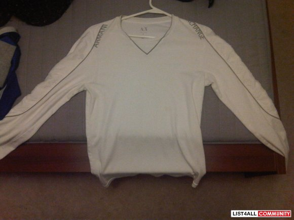ARMANI EXCHANGE WHITE LONG SLEEVE