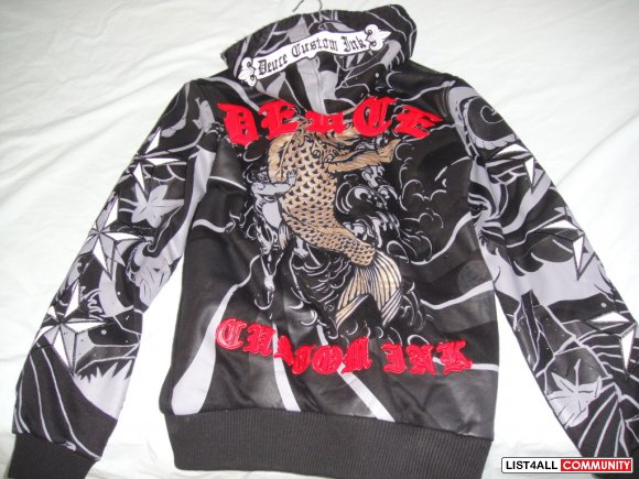 Deuce Men's Koi Hoody Size Large (with tags)