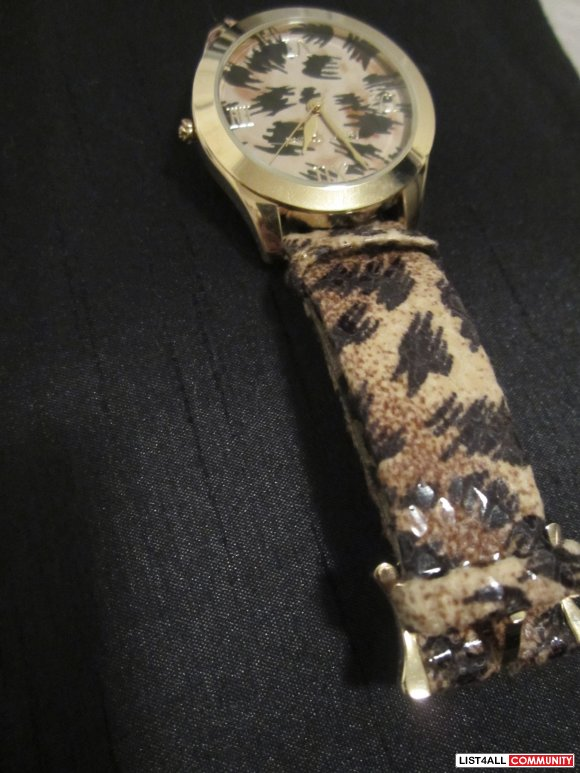 Cheetah Print Betsey Johnson Watch *price reduced