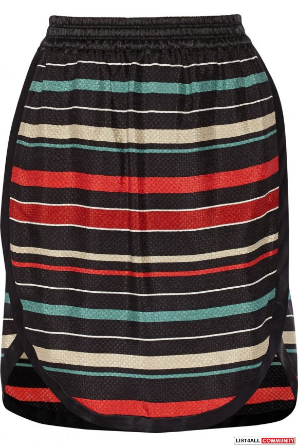 Isabel Marant Silk Striped Skirt