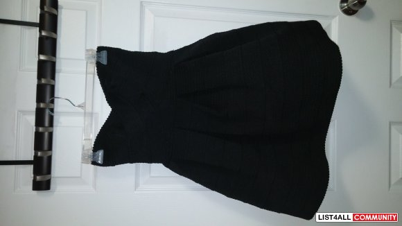 BN Black Strapless Party Dress Size Small