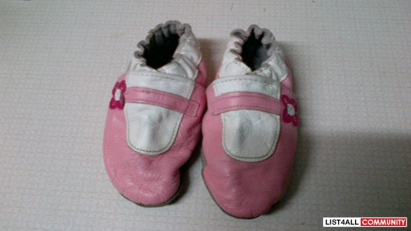 Robeez Pink and White Shoes