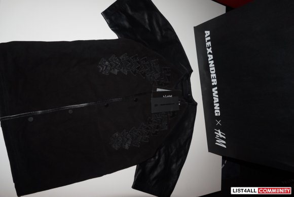 BNWT Alexander Wang X H&M leather and suede jacket