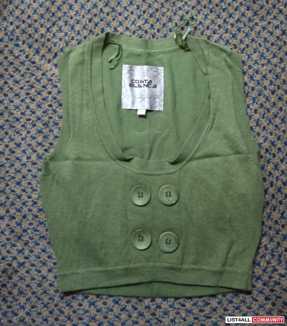 costa blanca vests brown and green