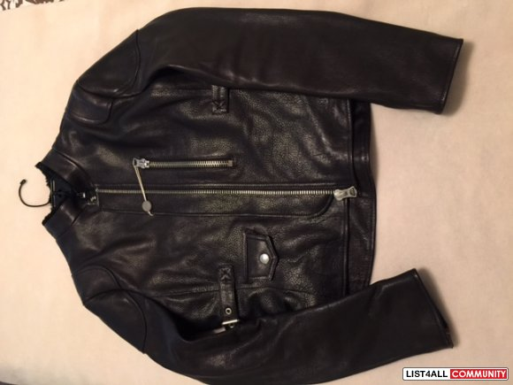 Acne Studios Mabel Leather Women's Biker Black Leather Jacket US size