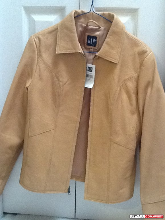 NEW GAP leather jacket light brown! :: cheapo :: List4All