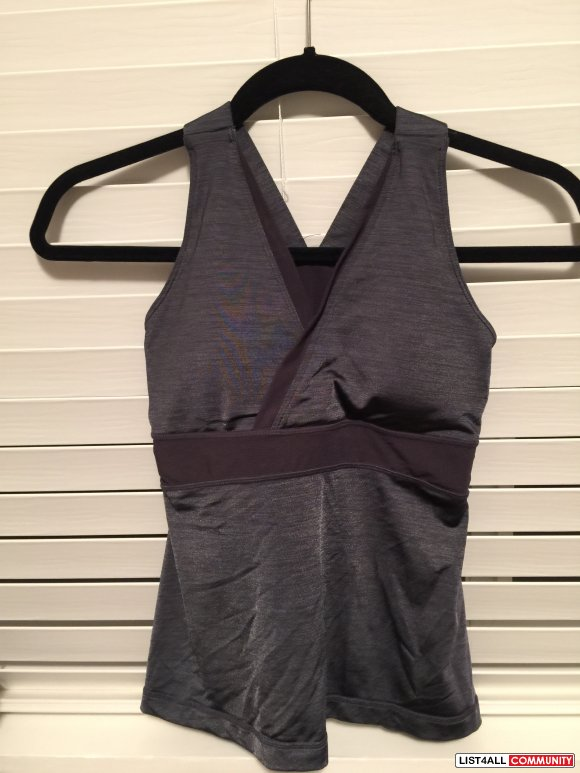 Lululemon Grey Top - Size 4 but feels like a size 2