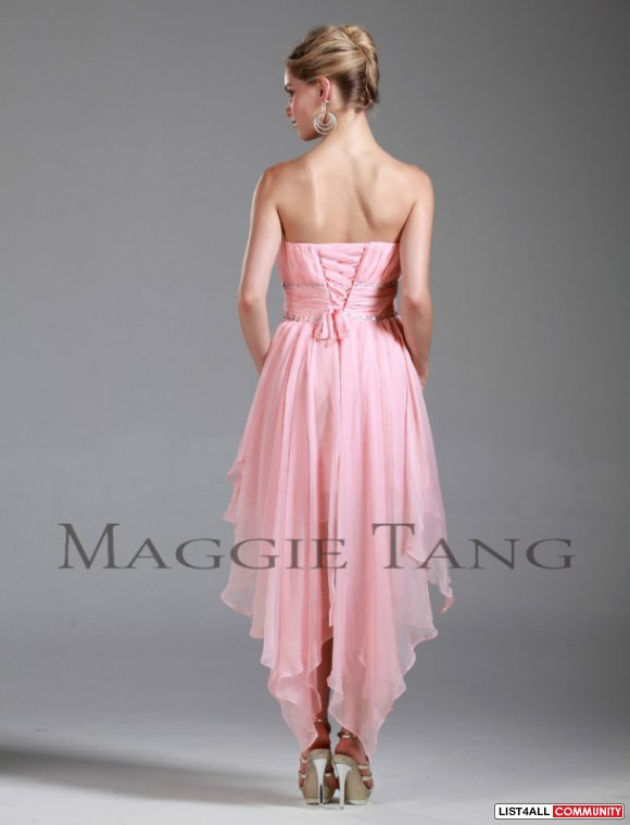 Prom/Home-coming/Birthday Dress, Chiffon, Jewelled, Polyester, Corset-