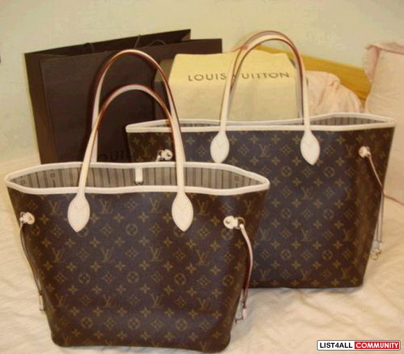 louis vuitton monogram canvas neverfull mm fashionbags list4all. Black Bedroom Furniture Sets. Home Design Ideas