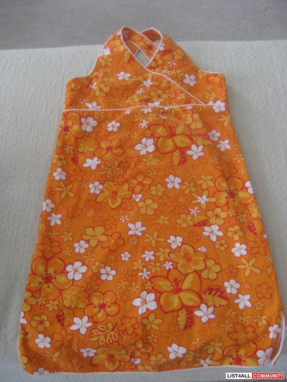 Childrens Place Orange Hawaiian Dress - size 8