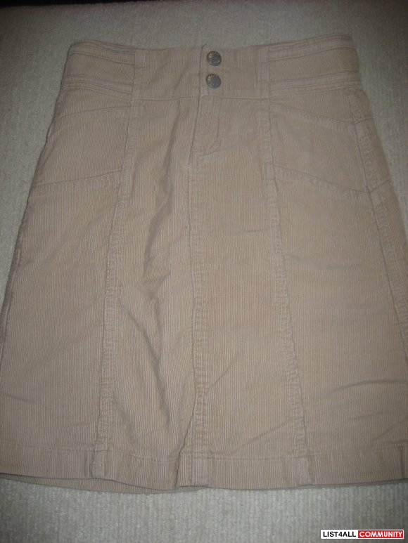 Jacob Jr Light Brown Corduroy Skirt - size 8