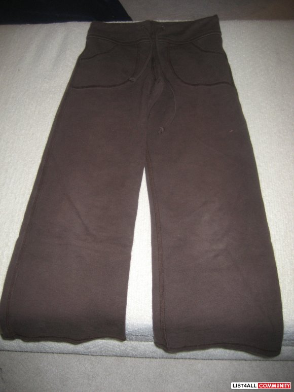 Yogini 2 pr Yoga Pants - 1 Brown/1 Black - size 6/7