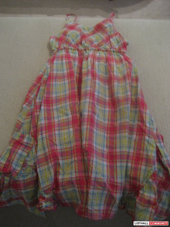 Childrens Place Plaid Summer Dress - size 10