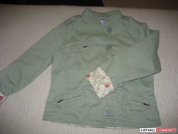 Old Navy light green cotton jacket - size 8