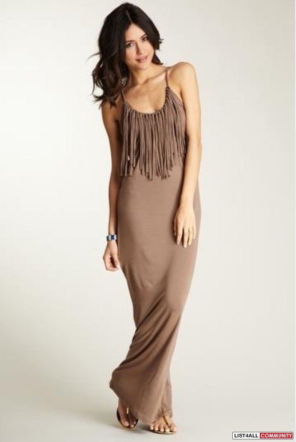 * * Brand New Fringe Maxi-Dress! * *