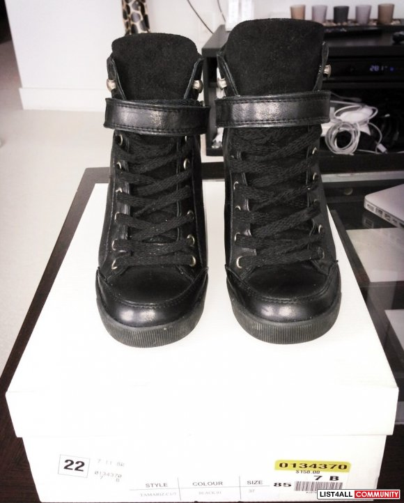 * * Brand New Hot Leather Wedge Sneakers! * *