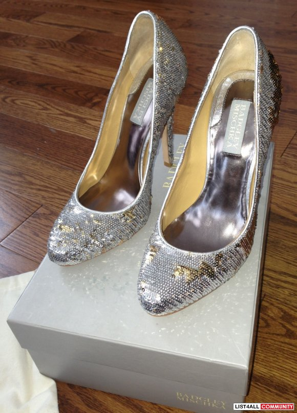 * * Brand New Stunning BADGLEY MISCHKA Sequin Pumps from Holt Renfrew!