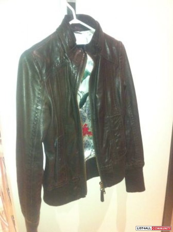 mackage leather jacket XXS $300