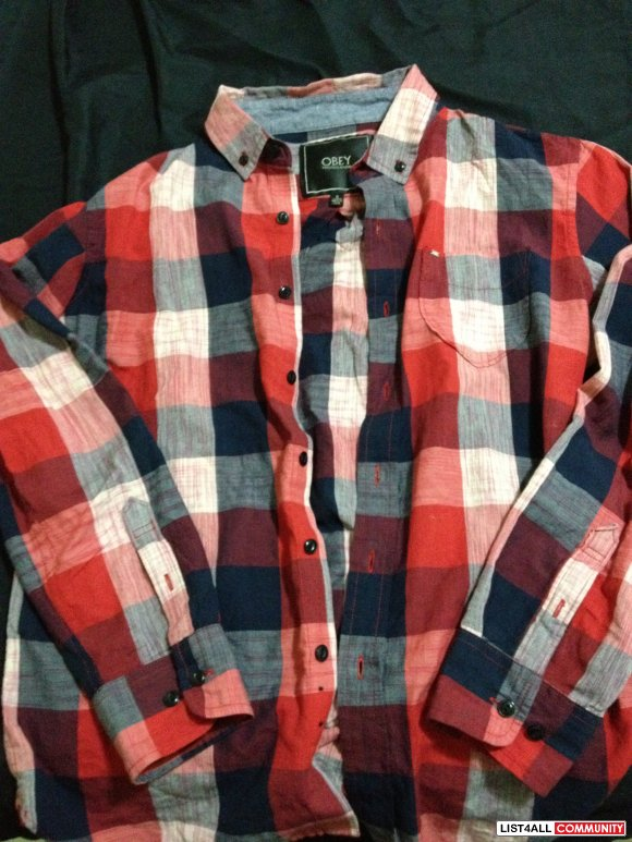 Obey Posse Plaid Shirt