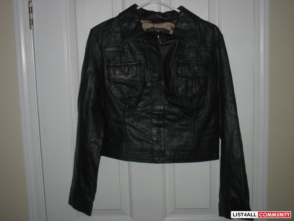 Brand New Manny Womens Leather Jacket Retails for $300 at THE BAY