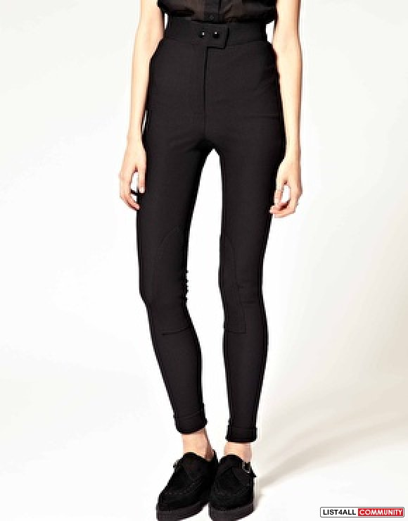 "American apparel - ""riding pant"" in black highwaisted"