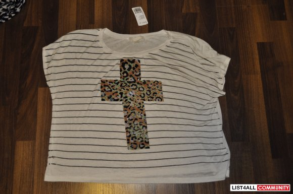 Forever 21 tee cheetah cross