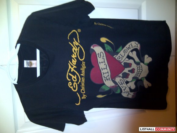 Ed Hardy Love Kills Slowly mens t shirt authentic size small
