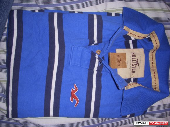 Men's hollister blue polo Brand new with tags NOW $10