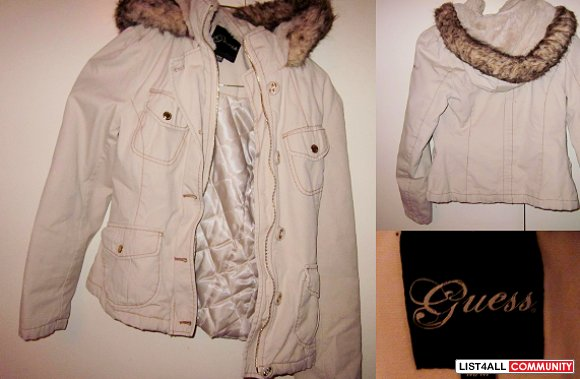Beige/White Guess Jacket