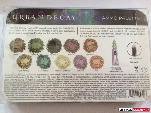 [SOLD] Urban Decay Ammo Palette
