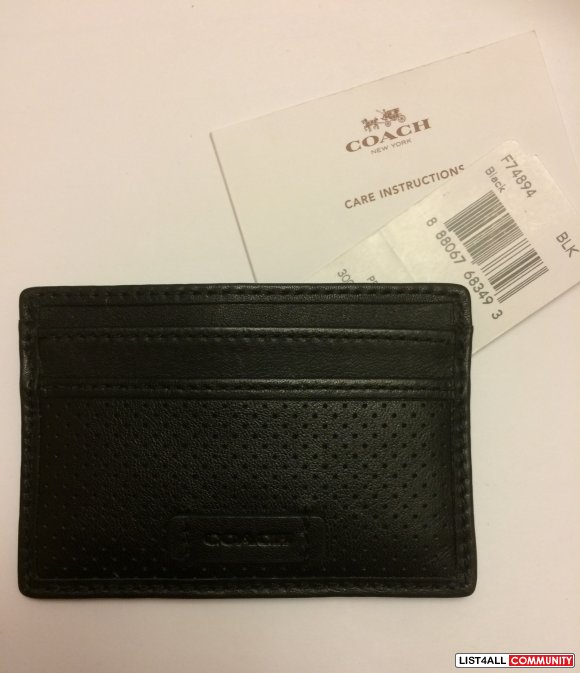 Coach Mens Leather Card Case