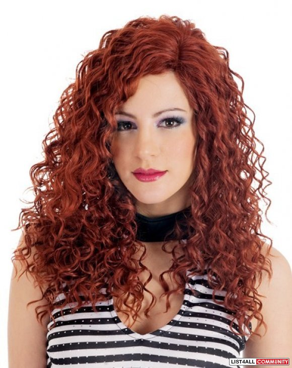 Hot ! New Dark Red Curly wavy Long Cosplay Wig | Red wigs