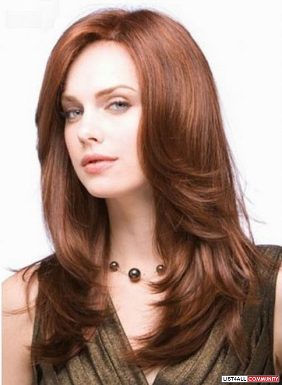 Elegant Straight Long Lace wig