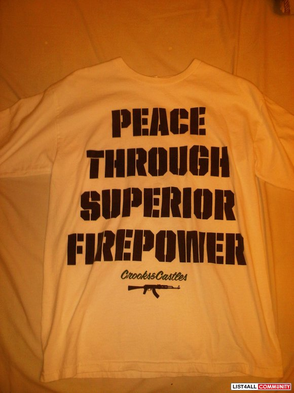 Crooks & Castles (Peace Through Superior Firepower) T-Shirt