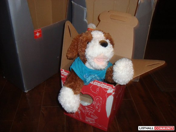 build bear dog brown and white $ 20