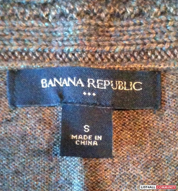 Brown Banana Republic V-Neck Knit Sweater. Size S